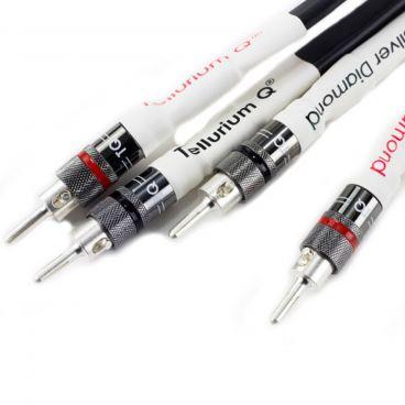 Tellurium Q, Silver Diamond Speaker Cable - Factory Terminated