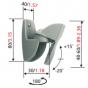 Vogels VLB 500S Loudspeaker support (2x) SILVER