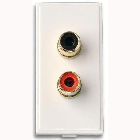 FSUK MEDIA-RCA-X2-PHONO-PLATE Click Media RCA x 2 Phono Outlet