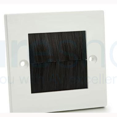 FSUK Kauden BRUSH-PLATE-KDN Brush Plastic Wall Plate with Black Brushes