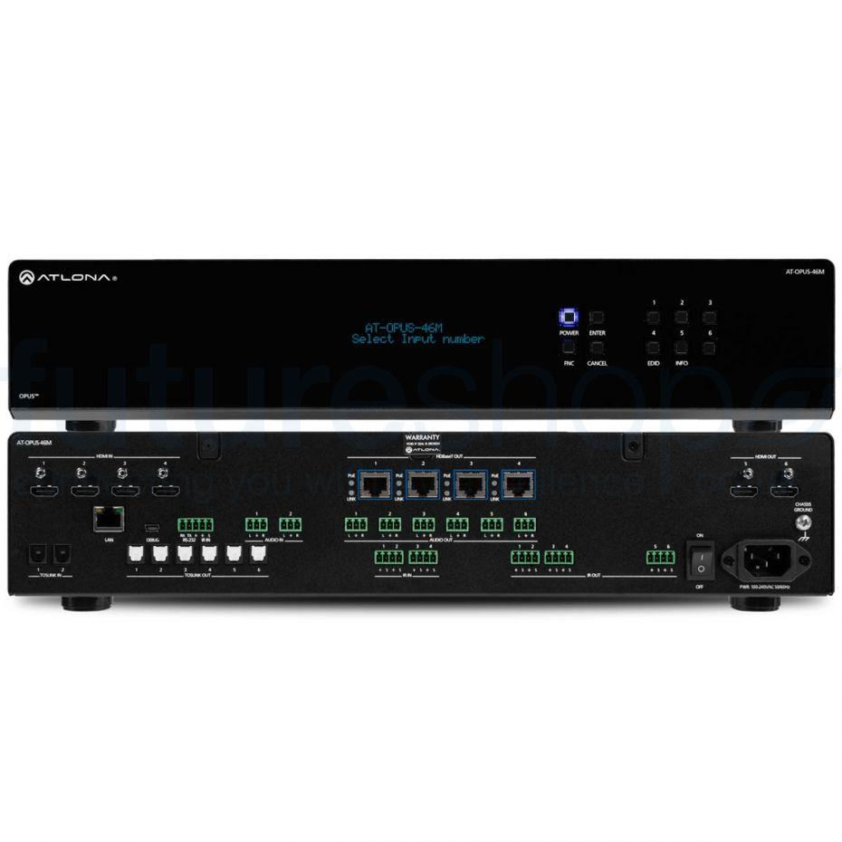 Atlona AT-OPUS-46M 4K HDR 4x6 HDMI to HDBaseT Matrix Switchers