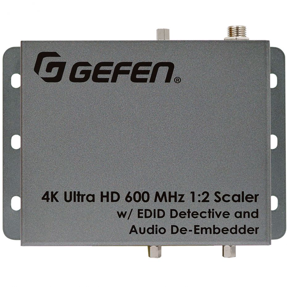 Gefen EXT-UHD600A-12-DS 4K Ultra HD 600 MHz 1:2 Scaler w/ EDID Detective and Audio De-Embedder
