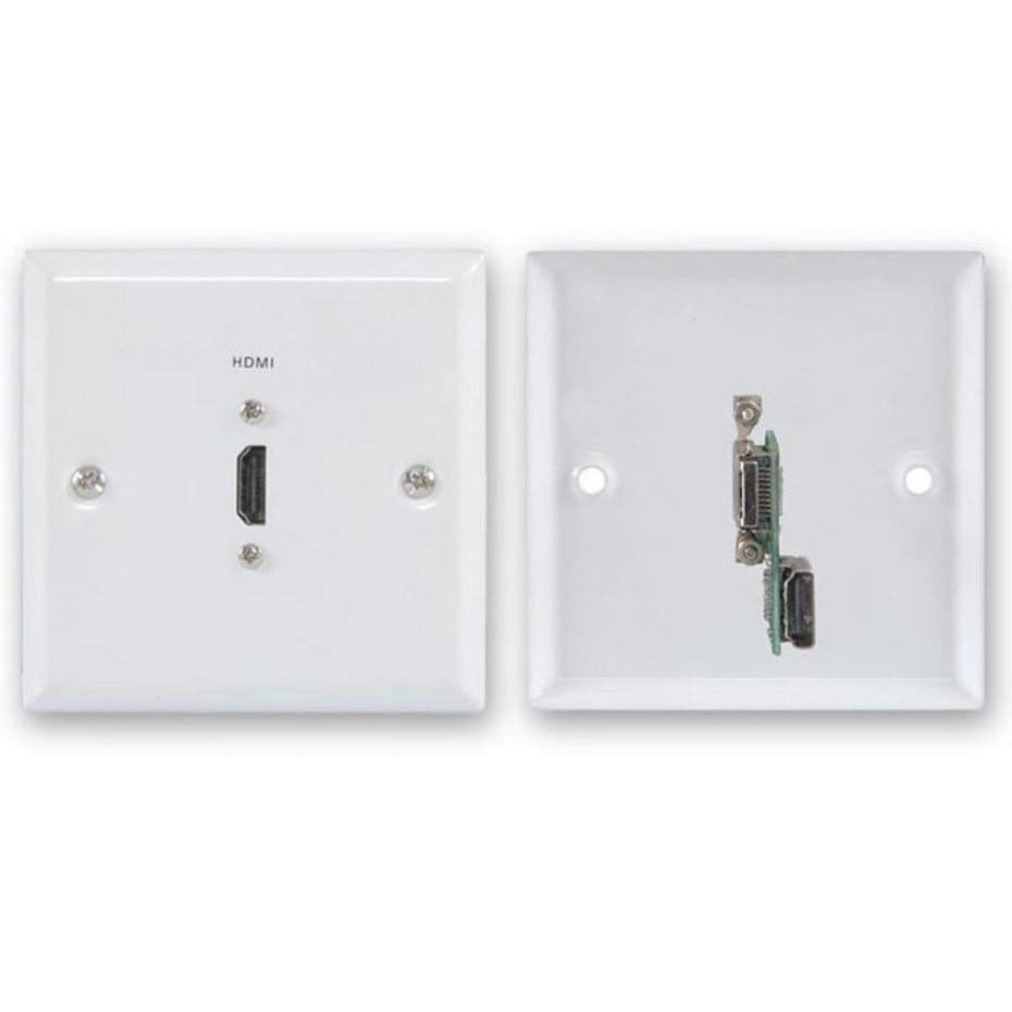 FSUK HDMI White Steel Wallplate