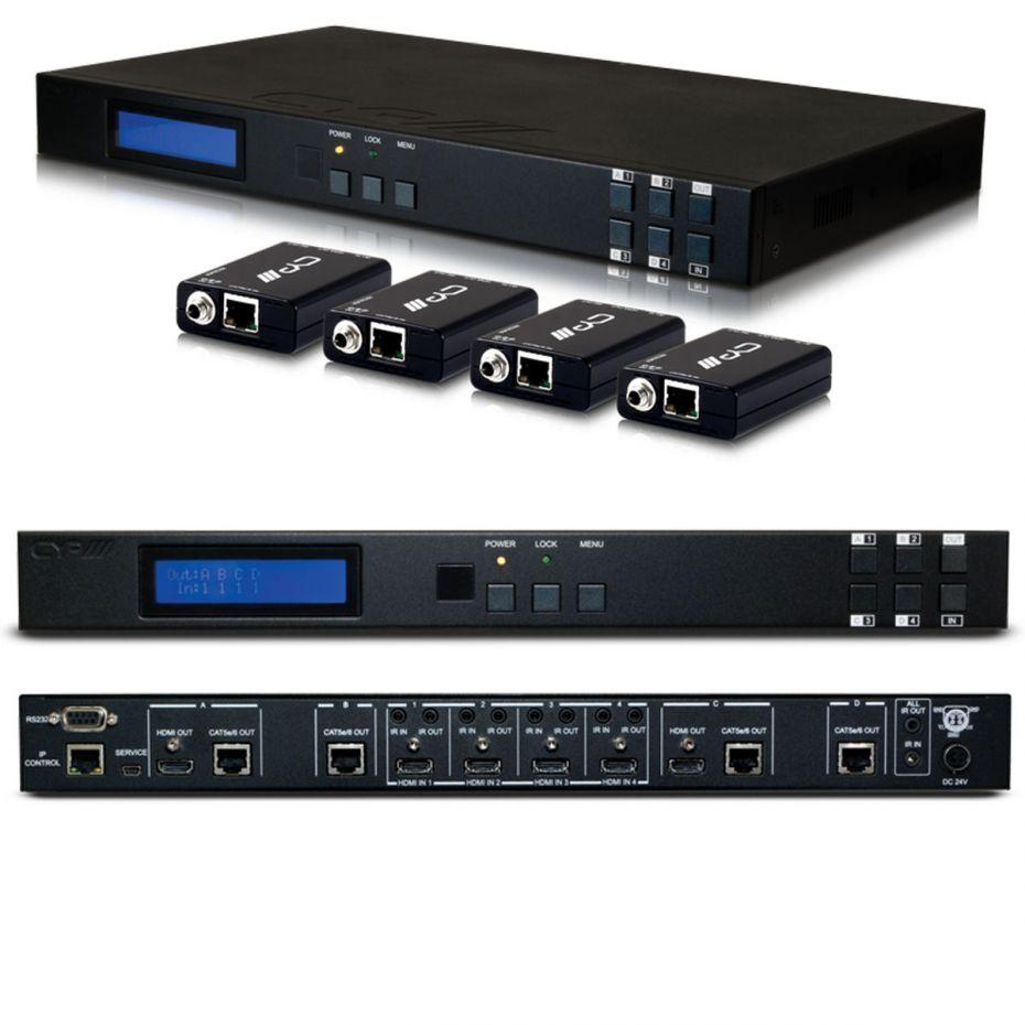 CYP 4x4 HDMI HDBaseT LITE Matrix (with 2 simultaneous HDMI outputs) including 4x PU-514L-RX