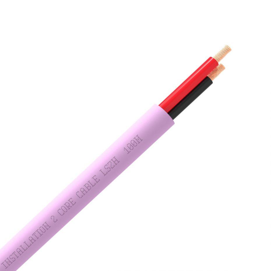 QED QX16/2 2 Core Speaker Cable Pink (LSZH)