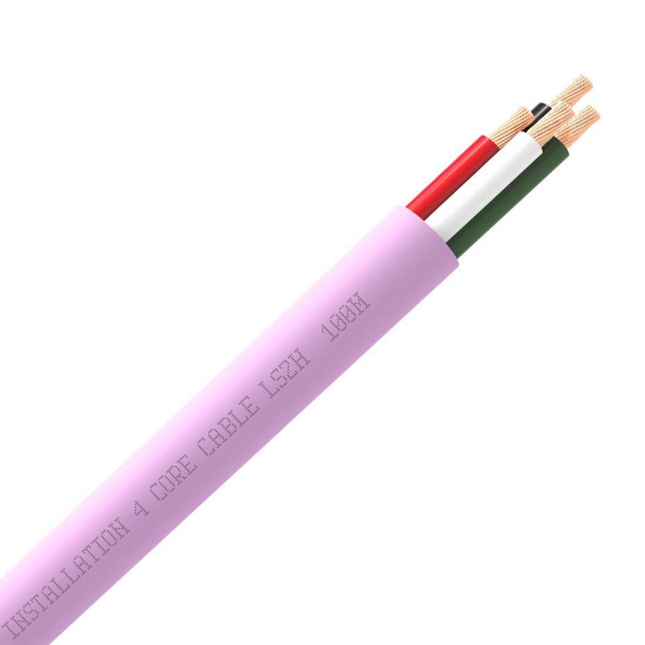 QED QX16/4 4 Core Speaker Cable Pink (LSZH)