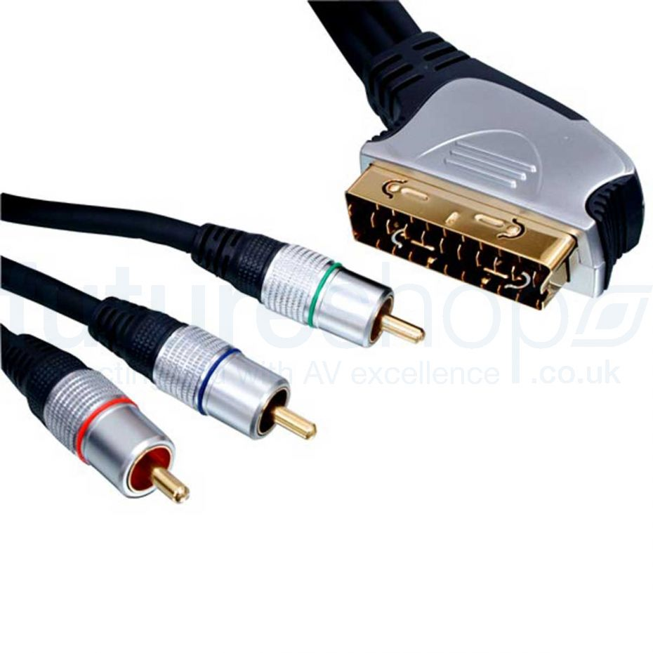 FSUK High Quality Silver Series Scart to Component Video Cable 2.5m