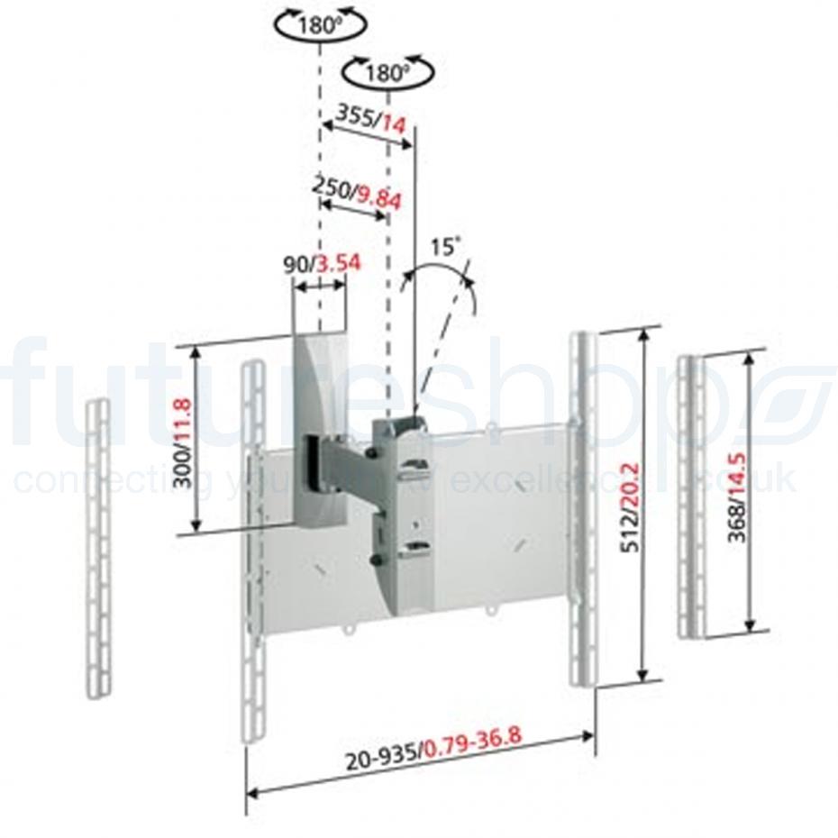 "Vogels VFW365 LCD Turn & Tilt Wall Mount - 25""-65"""