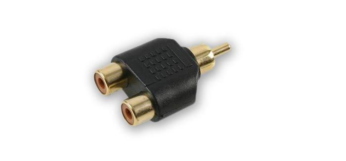 FSUK High Quality M-PHN-F-PHN Male Phono to 2 Female Phono Audio Splitter