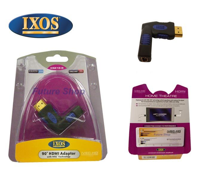 IXOS XS218-B iVEC Right Angled Left Handed HDMI Adapter