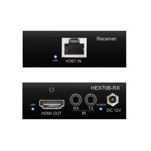 Blustream HEX70B-RX - HDBaseT Receiver - Front & Back