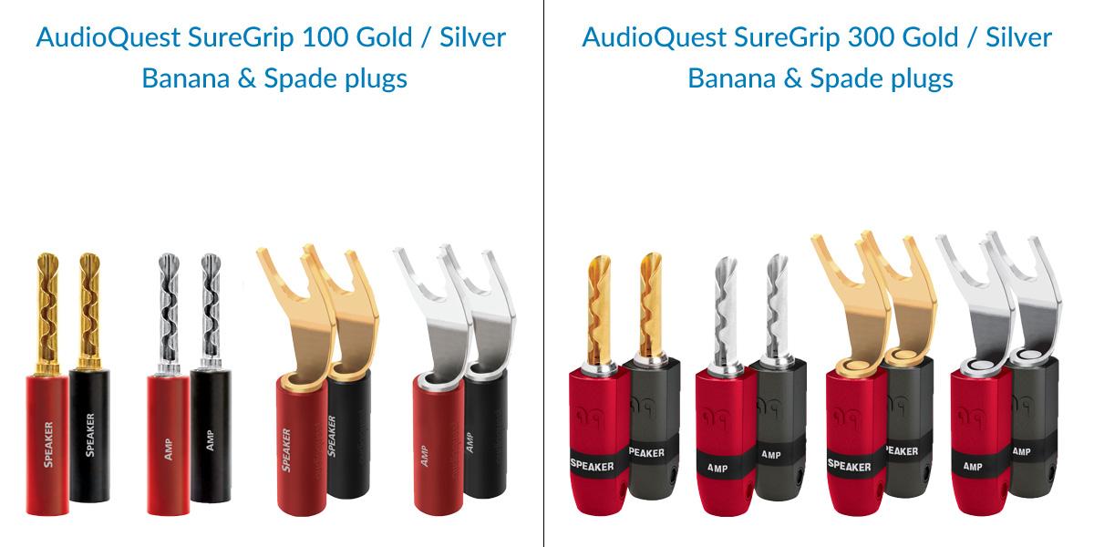 AudioQuest SureGrip 100 & 300 Speaker Plugs