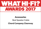 Best Speaker Cable - What Hi-Fi? Awards - 2015/2016/2017