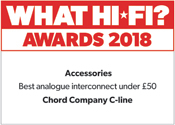Chord Company C-Line Analogue Interconnect What Hi-Fi? Awards 2018