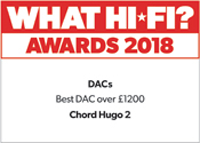 Best DAC £1000+ & Product of the Year & Best DAC £1200+ - What Hi-Fi? Awards 2017/2018