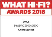 Chord Electronics Qutest What Hi-Fi? Award 2018