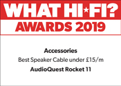 AudioQuest Rocket 11 WhatHi-Fi? Best Speaker Cable under £15/m