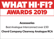 Chord Clearway RCA What Hi-Fi? Award 2019