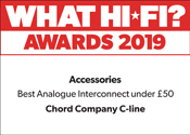 Chord C-Line What Hi-Fi? Award 2019