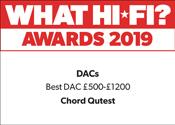 Chord Qutest What Hi-Fi? Award 2019