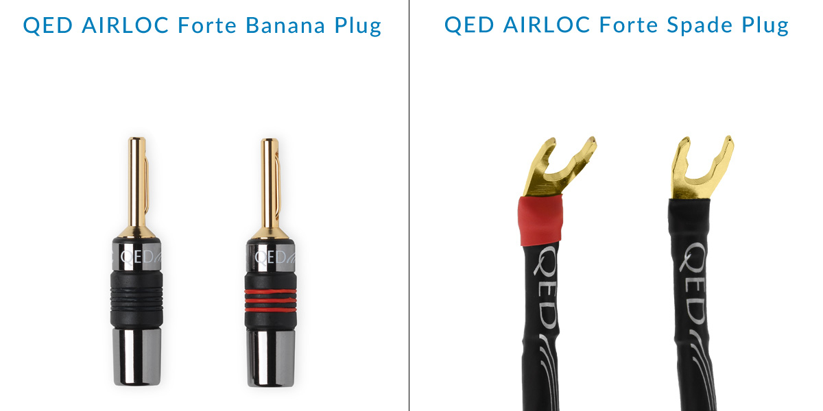 QED AIRLOC Forte Banana and Spade Plugs Diagram