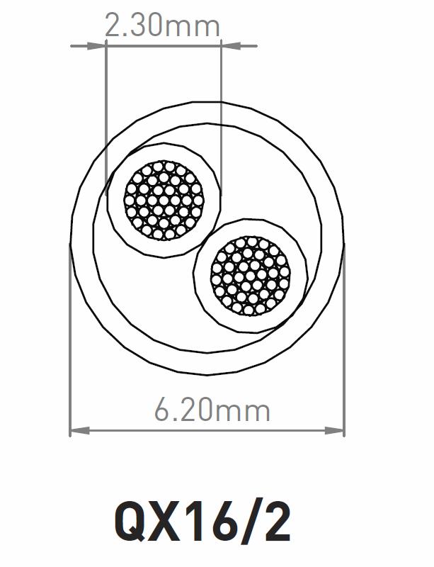 QED QX16/2 Conductor Construction Diagram