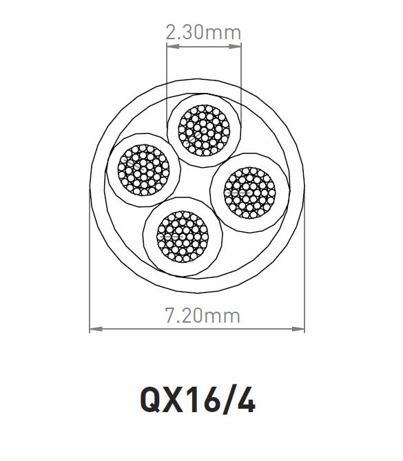 QED QX16/4 Conductor Construction Diagram