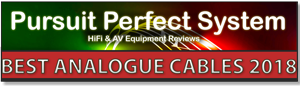 Tellurium Q Black II Pursuit of Perfect Systems Best Analogue Cable 2018 Award
