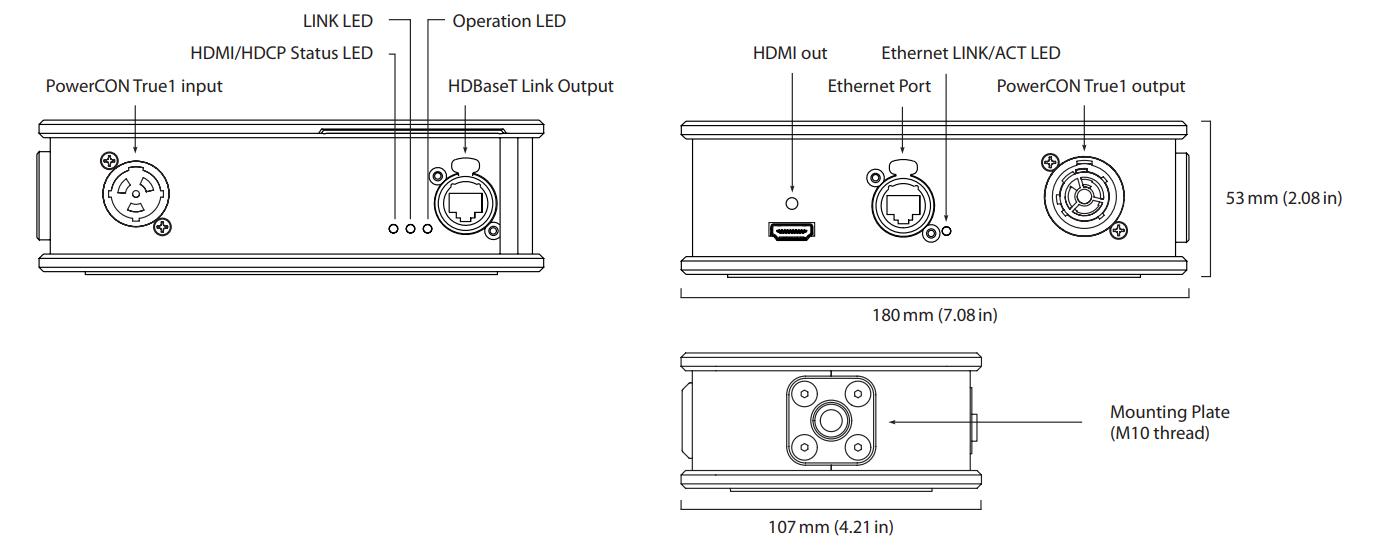 Theatrixx xVision HDBaseT 2 HDMI Line Diagram