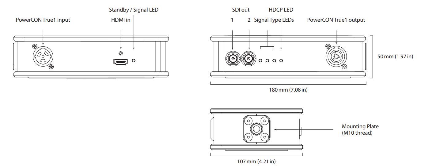 Theatrixx xVision HDMI 2 SDI Line Diagram