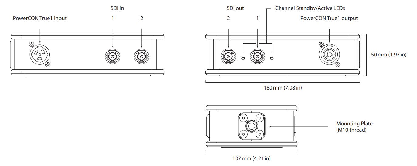 Theatrixx xVision SDI Repeater Line Diagram